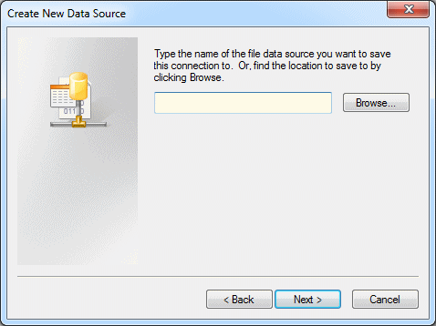 Configuring ODBC File Client Data Sources